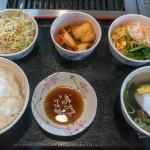 じゅうじゅう亭の特大ステーキ&牛カルビ定食