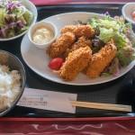 海華の広島牡蠣フライと魚のバター焼き