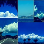 Blue Sky,Blue Ocean and White Cloud