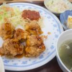 なかざ家のふっくらしっとりワンコイン鶏唐定食