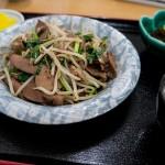武ちゃん食堂のレバニラ