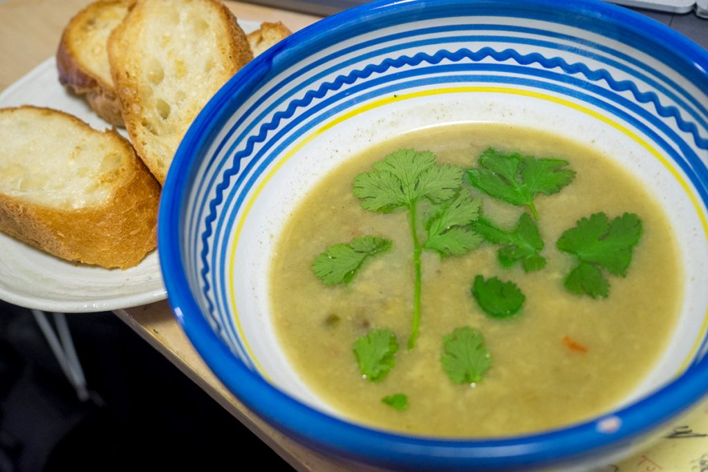 GREENcurry_soup_bagette170421