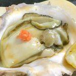 三重県産のプリップリな岩ガキを<br>磨き三割九分の獺祭で味わう