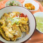 なかざ家のカツ丼と沖縄そば定食